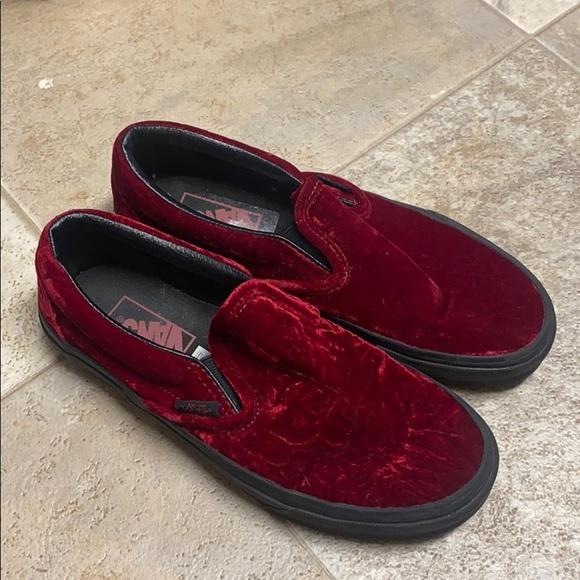 Vans Shoes | Red Velvet | Poshmark